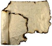 Rolos de papel queimados   Imagem de Stock