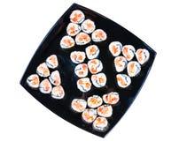Rolos de sushi fotografia de stock