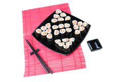 Rolos de sushi imagem de stock royalty free