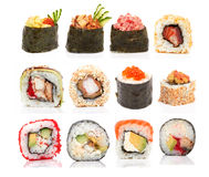 Rolos de sushi foto de stock