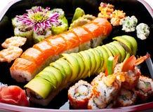 Rolos de sushi. fotografia de stock royalty free