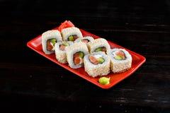 Rolos de sushi ajustados foto de stock royalty free