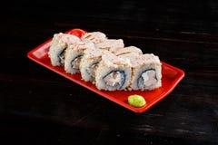 Rolos de sushi ajustados fotografia de stock royalty free