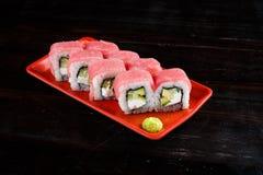 Rolos de sushi ajustados fotos de stock royalty free