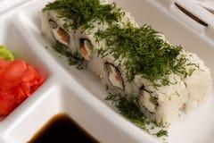 Rolos de sushi com aneto Fotos de Stock