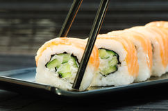 Rolos de sushi de Philadelphfia Fotos de Stock