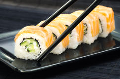 Rolos de sushi de Philadelphfia Fotos de Stock Royalty Free