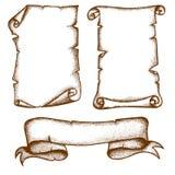 Rolos desenhados à mão ilustração stock