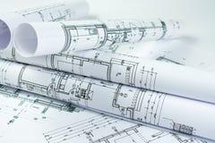 Rolos do arquiteto Imagem de Stock Royalty Free