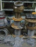 Rolos do fio de aço Fotos de Stock
