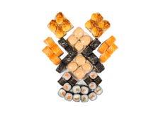 Rolos do japonês isolados em um branco Foto de Stock