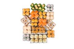 Rolos do japonês isolados em um branco Imagens de Stock