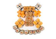 Rolos do japonês isolados em um branco Fotos de Stock Royalty Free