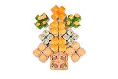 Rolos do japonês isolados em um branco Imagem de Stock