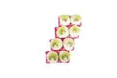 Rolos do japonês isolados em um branco Fotografia de Stock