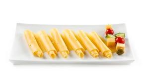 Rolos do queijo Imagens de Stock