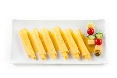 Rolos do queijo Fotografia de Stock