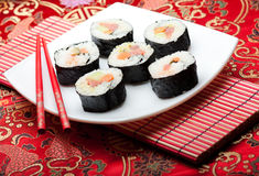 Rolos do sushi Foto de Stock