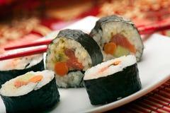 Rolos do sushi Foto de Stock Royalty Free