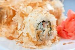Rolos do sushi do arroz Fotografia de Stock