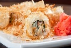 Rolos do sushi do arroz Imagens de Stock