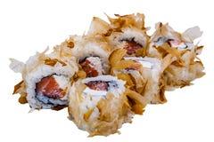 Rolos do sushi isolados no fundo branco Foto de Stock Royalty Free