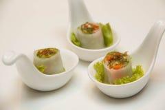 Rolos do vegetal de Chay Vietnamese do Cuon de Goi imagens de stock