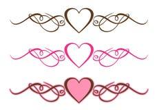Rolos dos corações Foto de Stock Royalty Free