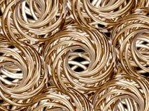 Rolos dourados Imagens de Stock