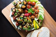 Rolos e pão da beringela Imagem de Stock Royalty Free
