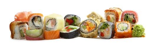 Rolos japoneses da mistura do maki assorted Foto de Stock Royalty Free