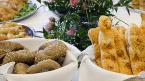 Rolos ou varas de pão Imagem de Stock