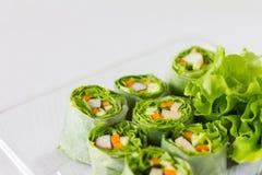 Rolos vegetais da salada Imagem de Stock
