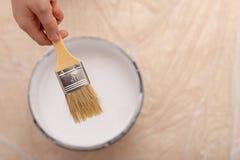 Rolownik i muśnięcie dla malować z farbą Obrazów akcesoria przygotowywający dla malować fotografia royalty free