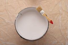 Rolownik i muśnięcie dla malować z farbą Obrazów akcesoria przygotowywający dla malować zdjęcia royalty free