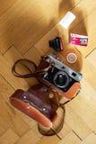 Rols van CT 100 35mm van Agfa Precisa diafilm naast een Rus 35 Royalty-vrije Stock Afbeelding