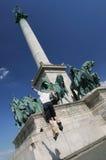 Rolschaats in Boedapest Stock Foto