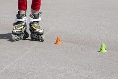 Rolschaatsen Stock Foto's