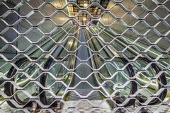 Roltrap boven en beneden de Centrale Post Amsterdam van de Metropost stock foto