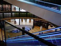 Roltrappen bij de Bibliotheek van Birmingham, het UK Royalty-vrije Stock Foto