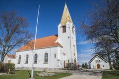 Rolvsøy kościół (północny zachód) fotografia stock