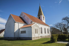 Rolvsøy Church (northeast). Rolvsøy Church is a long church from 1908 in Fredrikstad municipality and parish in Østfold county. The church is designed Stock Photos