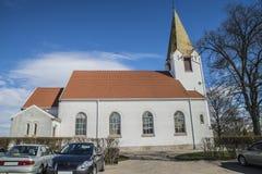 Rolvsøykerk (het noorden) Stock Foto