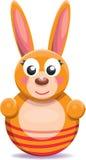 Roly-poly Cartoon Bunny Stock Photo