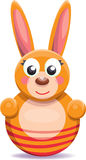 Roly-poly cartoon bunny Stock Photo