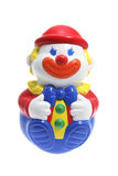 Roly-Poly Toy Clown. On a White Background Royalty Free Stock Photography