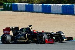 Román Grosjean del loto Renault Imagenes de archivo