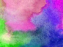 Romántico fresco de la naturaleza del fondo del arte de la acuarela del cielo de la salida del sol colorida delicada del día Imágenes de archivo libres de regalías