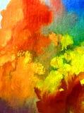Romántico fresco de la naturaleza del fondo del arte de la acuarela de los árboles coloridos delicados del otoño Fotografía de archivo libre de regalías
