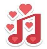 Romántico, icono del vector de la canción editable libre illustration